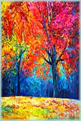Autumn forest Impressionism jigsaw puzzle