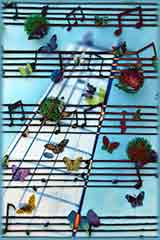 Butterfly Music wall jigsaw puzzle