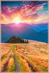 Carpathian mountains sunset jigsaw puzzle