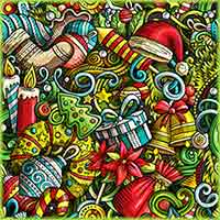 Christmas doodles Jigsaw Puzzle