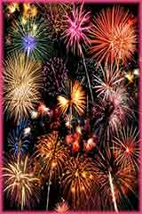 Colorful fireworks jigsaw puzzle