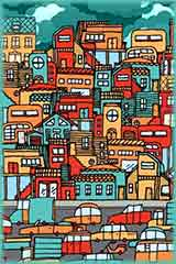 Crowded city puzzle