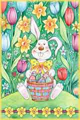 Easter Bunny Basket Jigsaw Puzzle