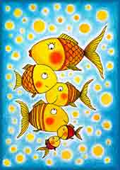 Mobile - PC Group of goldfish jigsaw puzzle