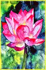 Lotus flower art jigsaw puzzle