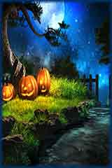 Night halloween pumpkins Jigsaw Puzzle