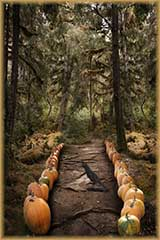 Spooky Trees And Pumpkins Jigsaw Puzzle