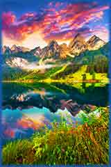 Vorderer Gosausee lake jigsaw puzzle