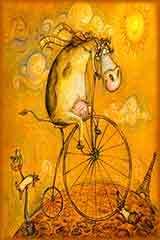 bicycle cow jigsaw puzzle