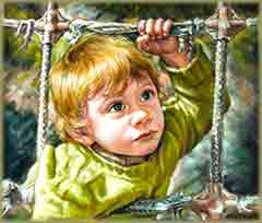 Mobile - PC blond child jigsaw puzzle