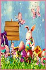 bunny and butterflies Jigsaw Puzzle
