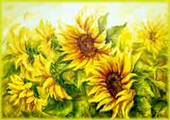 Mobile - PC canvas sunny sunflowers jigsaw puzzle