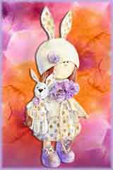 Mobile - PC doll holding bunny jigsaw puzzle