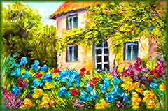 Mobile - PC flower garden house jigsaw puzzle