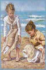 girls in the sand jigsaw puzzle