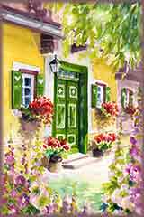 green door house jigsaw puzzle