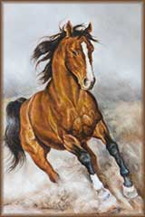 horse on prairie jigsaw puzzle