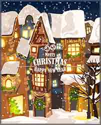 illustration Christmas town Jigsaw Puzzle