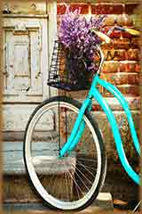 lavender flowers bicycle jigsaw puzzle