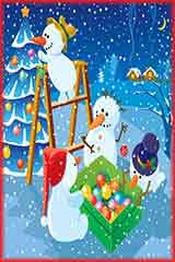 night snowballs decorate Jigsaw Puzzle