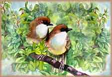 Mobile - PC painting spring birds jigsaw puzzle