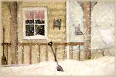 Mobile - PC porch in snow jigsaw puzzle