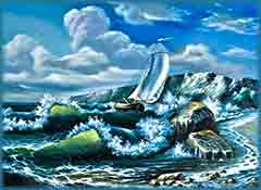 Mobile - PC sailing in storm jigsaw puzzle