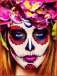 sugar skull woman Jigsaw Puzzle