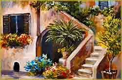 Mobile - PC summer terrace greece home jigsaw puzzle