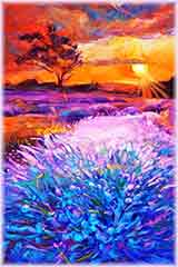 sunset lavender fields puzzle