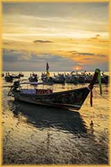 sunset thai boats jigsaw puzzle