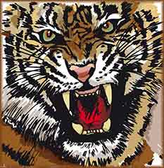 Mobile - PC Group of  tiger illustration jigsaw puzzle