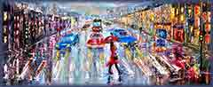 Mobile - PC umbrella woman city street jigsaw puzzle