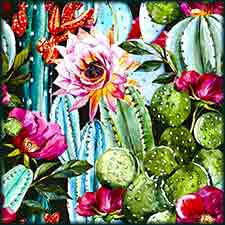 Mobile - PC watercolor cactus jigsaw puzzle