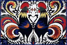 Rooster Papercut