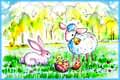 Sheep and Bunny