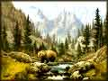 Wild Bear in Wilderness jigaw puzzle
