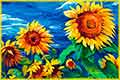 free jigsaw puzzles of art Sunflowers
