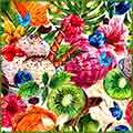 tropical summer watercolor jigsaw puzzle